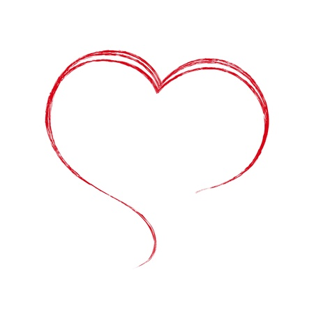 Heart. Painted with a brush. Design element. Stock Vector - 21736423