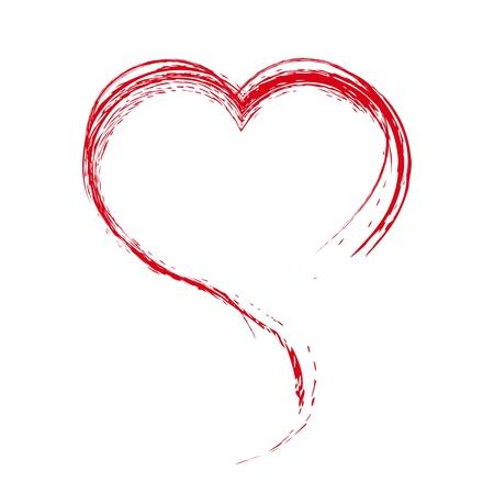 Herz. Gemalt mit einer Bürste. Design-Element. Illustration