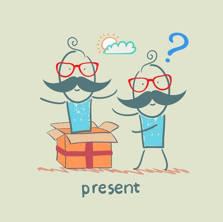 received: man received a gift from another person