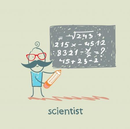 scientist wrote on the blackboard formula