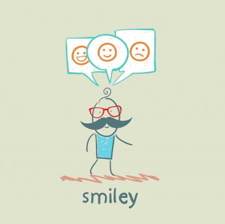 one thinks about smileys Vector