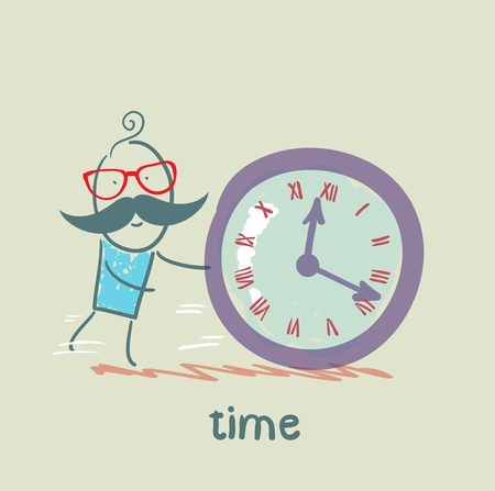 controls: man controls the time