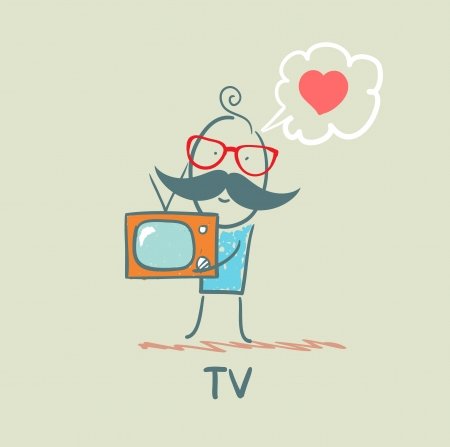 people like TV Stock Vector - 21736799
