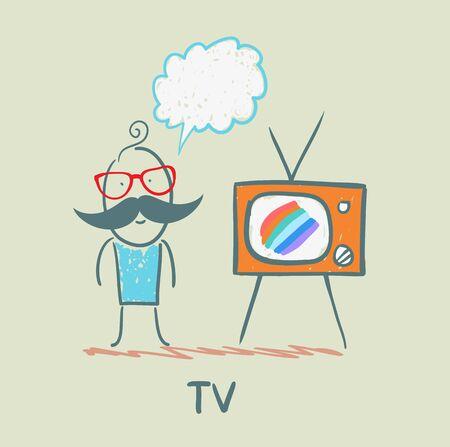 ver television: la gente le gusta ver la televisi�n Vectores