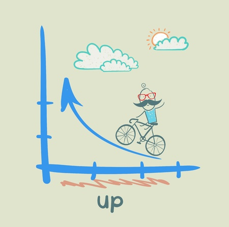 person goes according to schedule up a bike