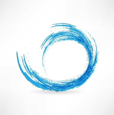 Sea wave. Painted with a brush. Design element.