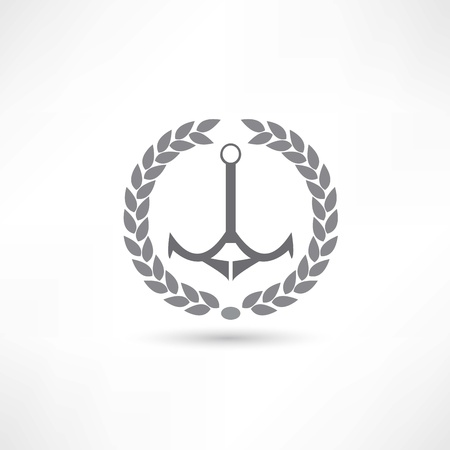 safe water: anchor icon Illustration