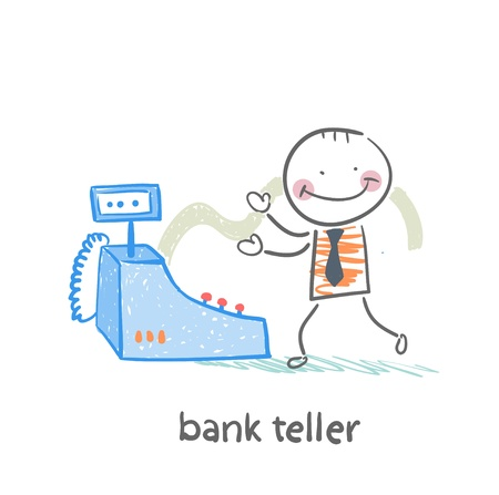 advising: bank teller with the apparatus