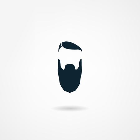 sideburn:  beard icon