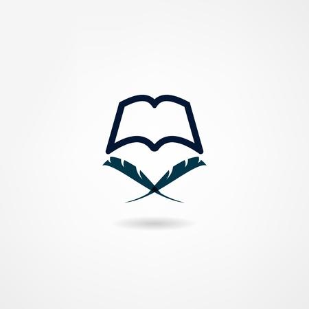 digital book: book icon Illustration