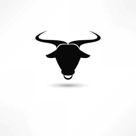 longhorn cattle: bull icon
