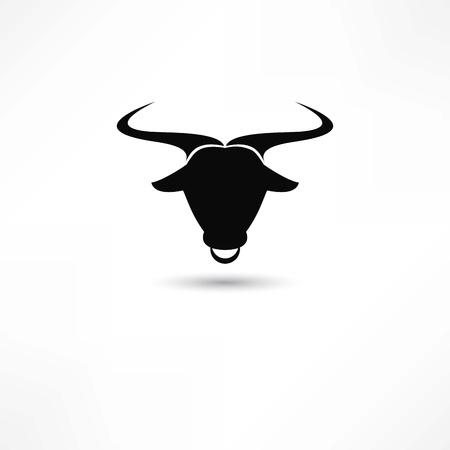 corrida de toros: toro icono Vectores