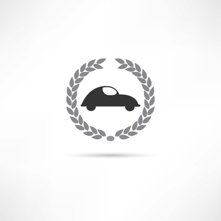 cabrio: car icon Illustration