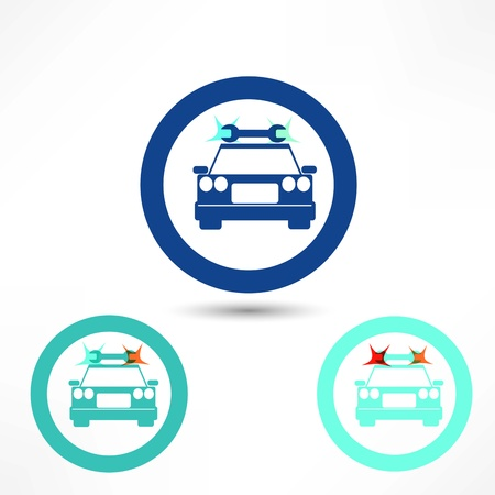 breakage: car  icon Illustration
