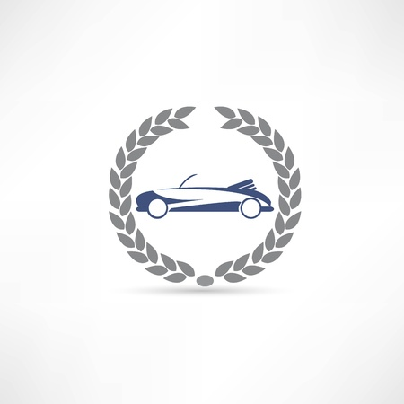 racing sign: car icon Illustration