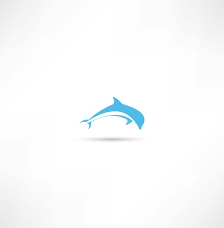 dolphin jumping: dolphins icon Illustration