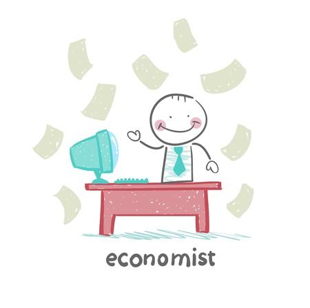 economist: economist  sitting at work