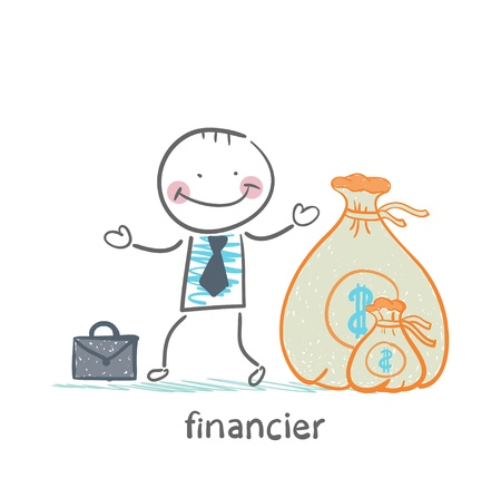 financier: financier is a bag of money