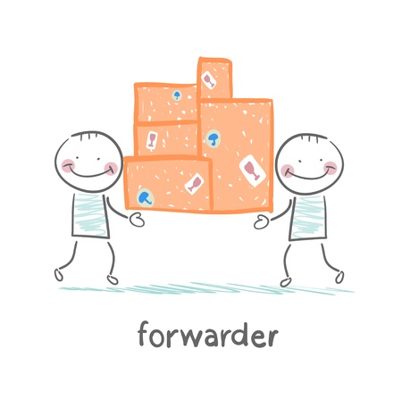 forwarder: forwarder is boxes with the goods