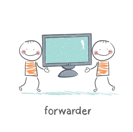 has: freight forwarder has a TV
