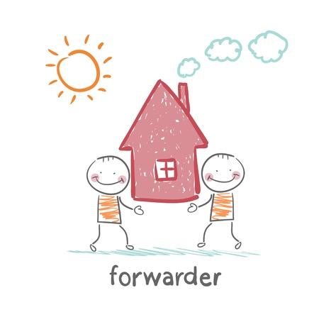 forwarder: forwarder carries a house Illustration