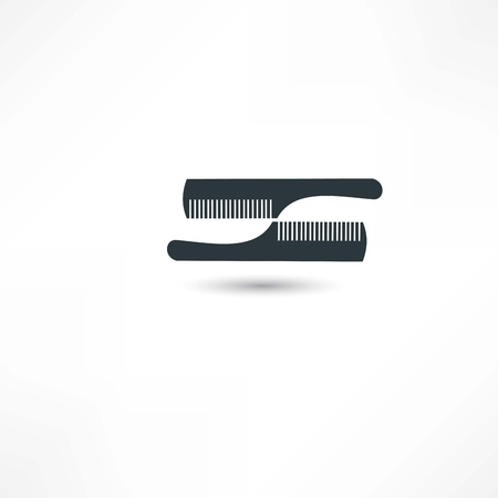 haircutting: hairdresser icon Illustration