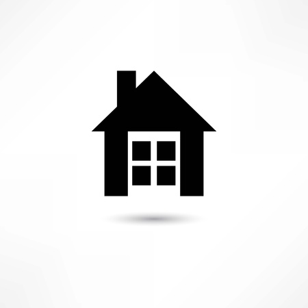 simple house: home icon Illustration