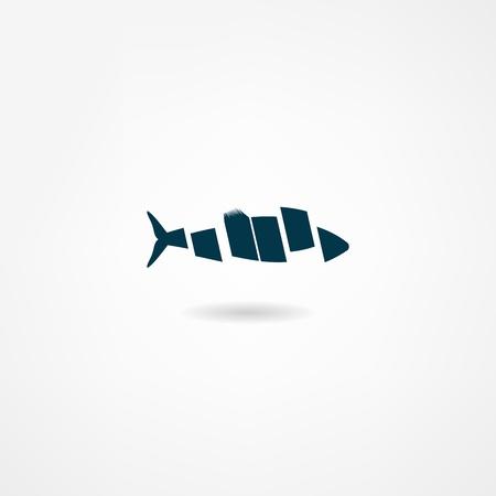 Icône de poissons Banque d'images - 21983233
