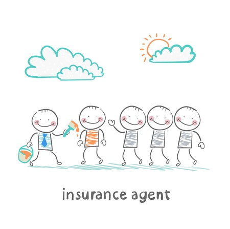 insurance agent repaint in a different color people Vector
