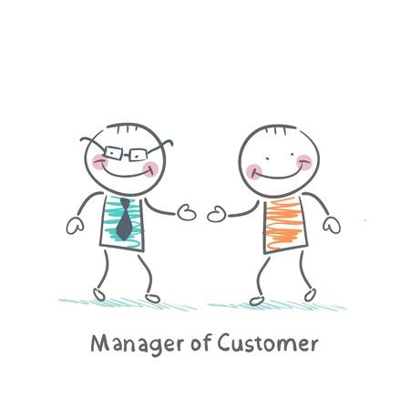 Manager Besteller grüßt mit dem Kunden Standard-Bild - 21983413