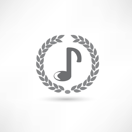 eight note: music icon Illustration