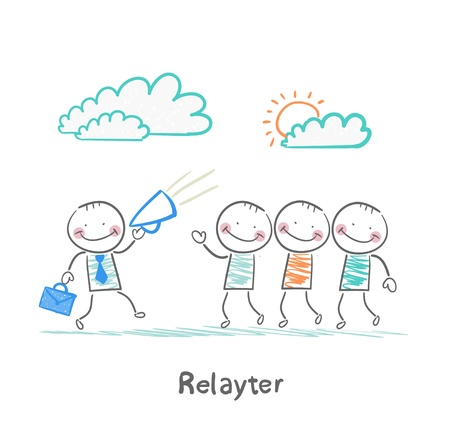 popularity popular: Relayter tells people about product Illustration