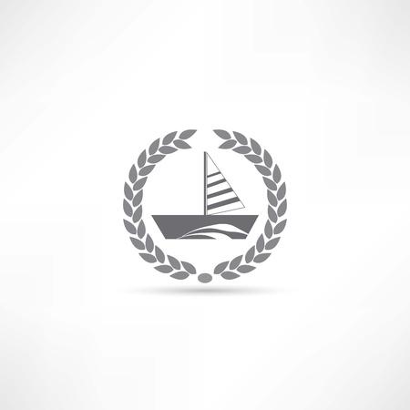 barca a vela: vela icona barca