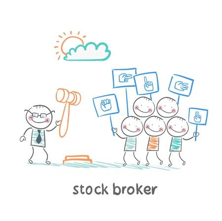 stock brokers: corredores de bolsa compran acciones