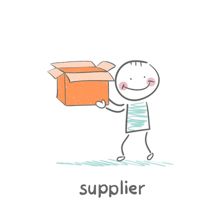 supplier is carrying an empty box