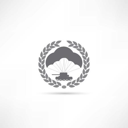 parachutist: parachute icon Illustration