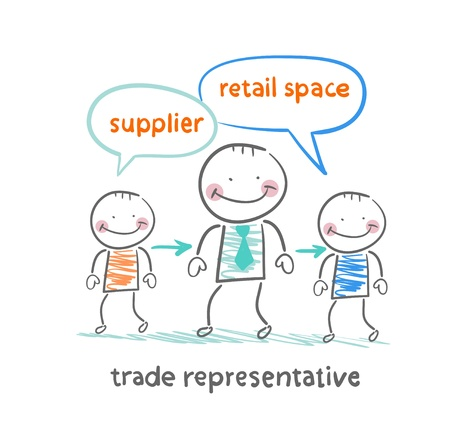 supplier: trade representative is standing next to a supplier