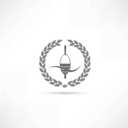 fly fisherman: fishing icon Illustration
