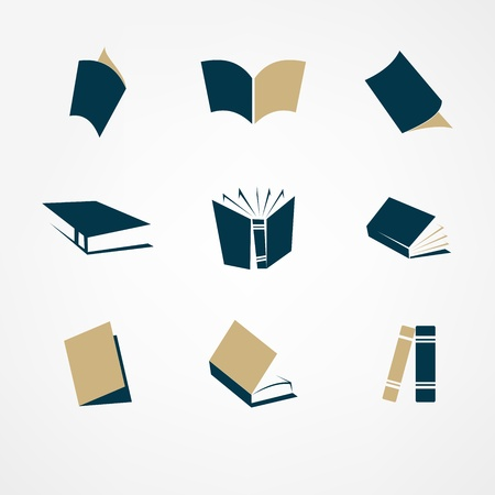 open notebook: book icon set