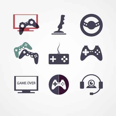 video games icon set Stock Vector - 22073809