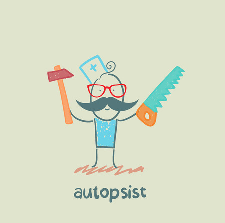 autopsist with a saw and mrlotkom