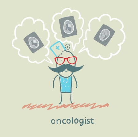 oncologist: oncologist thinks of the x-ray images