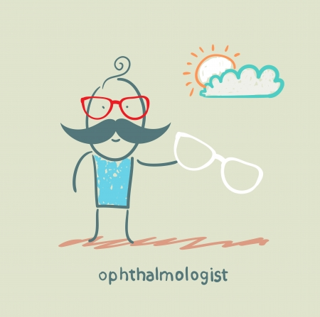 ophthalmologist with glasses