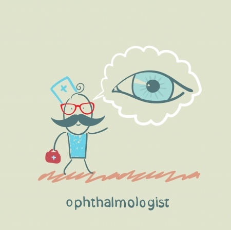 see a doctor: ophthalmologist thinks about eye