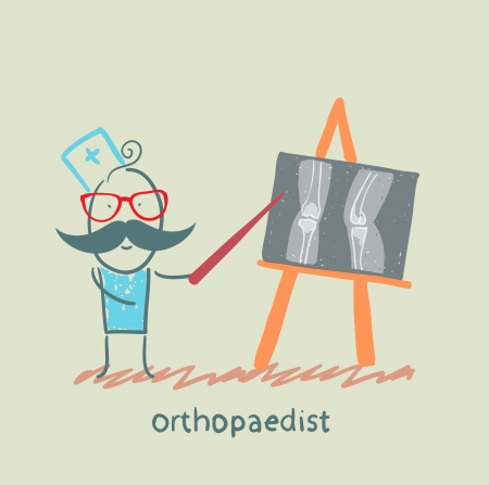 masseuse: orthopaedist shows an X-ray