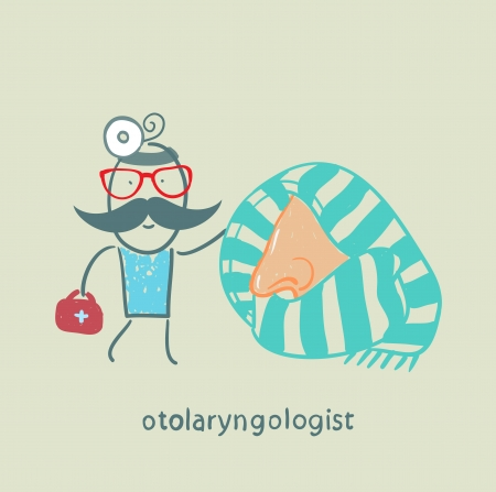 came: otolaryngologist came to treat the patients nose