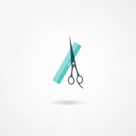 beauty shop: barbershop icon Illustration