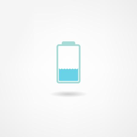 button batteries: battery icon Illustration