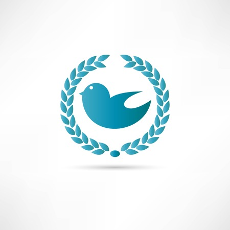 bird abstraction icon Vector