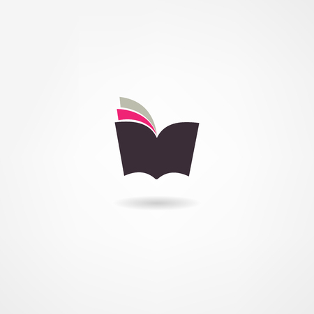open diary: book icon Illustration
